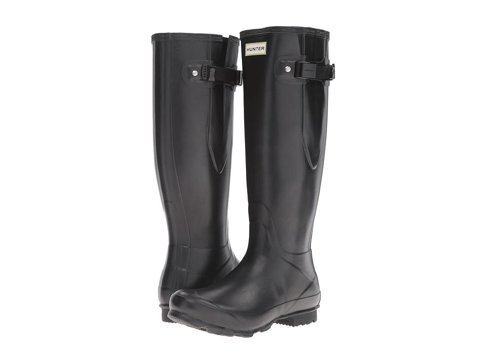 Hunter Norris Field Side Adjustable Boot (Black) Women's ...
