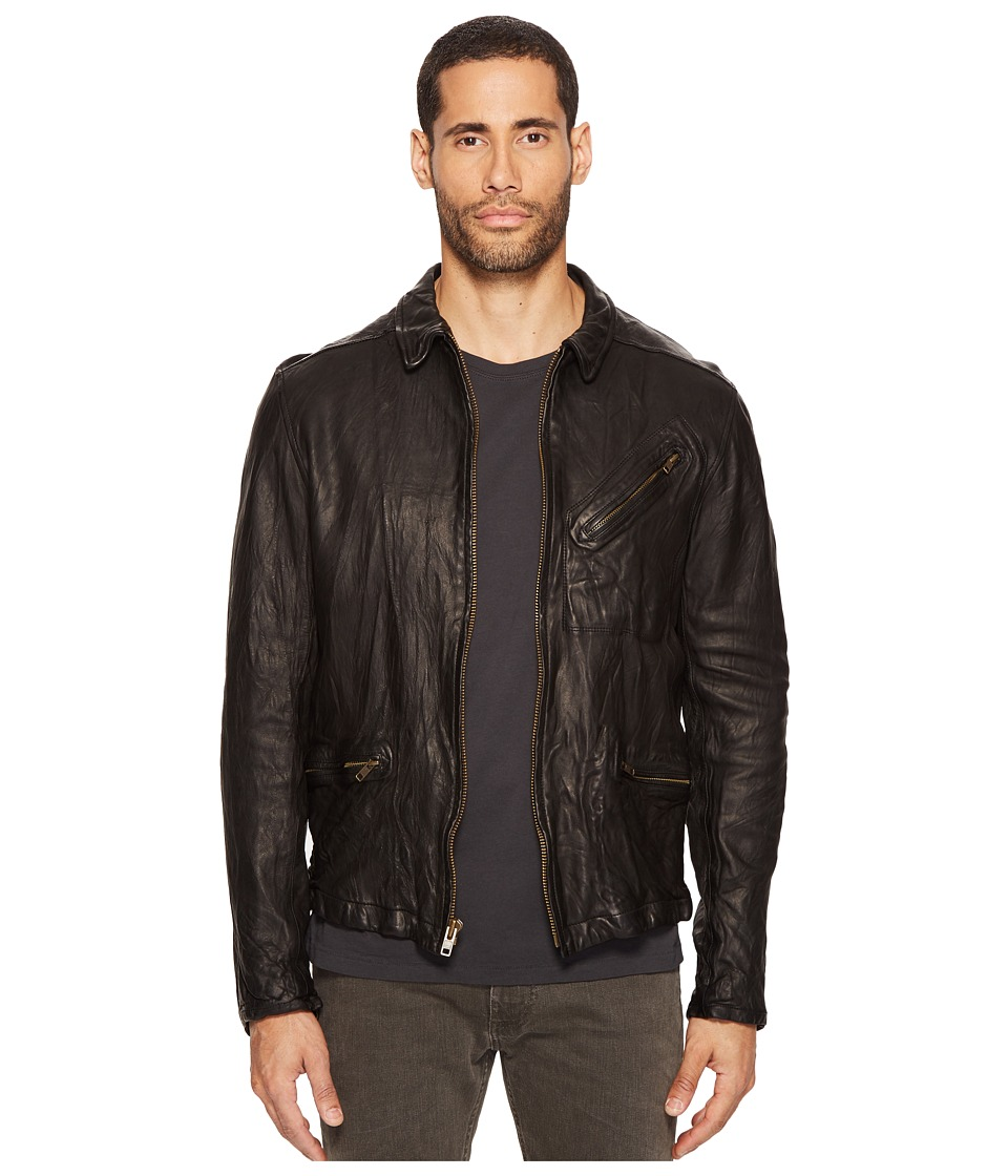 Image of Billy Reid - Blake Leather Jacket (Black) Men's Coat