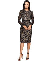 Maggy London - Metallic Paisley Lace Sheath Dress