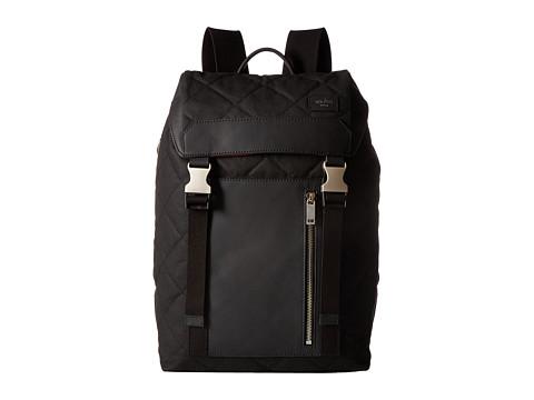 Jack Spade Quilted Waxwear Army Backpack - Black