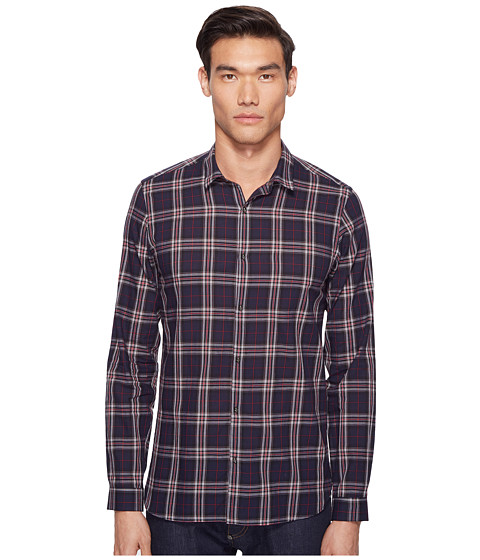 The Kooples Flourescent Cotton Melange Plaid Shirt