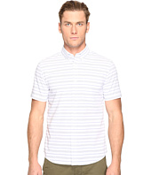 Jack Spade - Short Sleeve Horizontal Variated Stripe Button Down