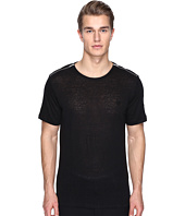 The Kooples - Sport Linen T-Shirt with Shoulder Zip