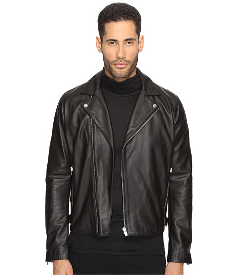 The Kooples Minimalist Leather Perferated Motorcycle Jacket