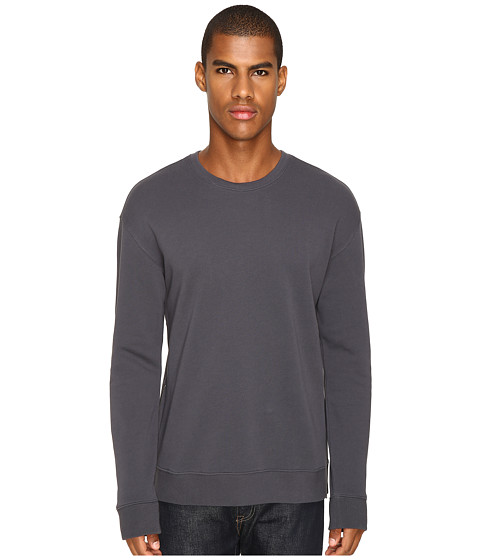 Vince Side Zip Long Sleeve Crew Neck Sweater