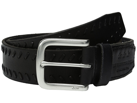 JOHN VARVATOS Laced Strap Belt With Harness Buckle