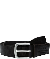 John Varvatos - Laser Scored Strap Belt with Harness Buckle