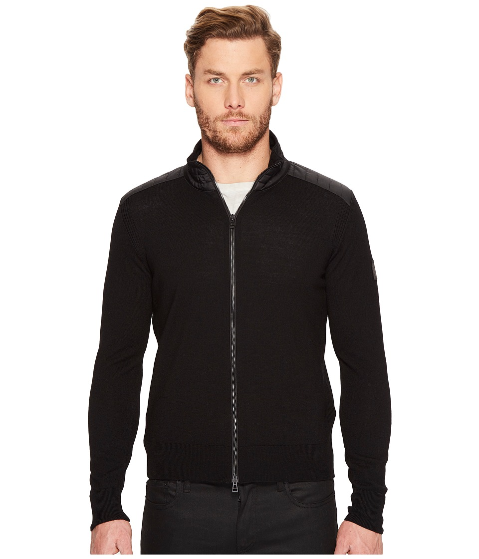 BELSTAFF - Kelby Fine Gauge Merino Full Zip Sweater (Black) Mens Sweater
