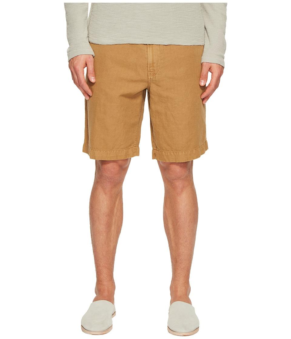 Billy Reid - Clyde Linen Shorts (Dark Tan) Mens Shorts