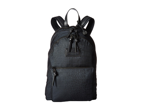John Varvatos Croc Embossed Ballistic Nylon Backpack