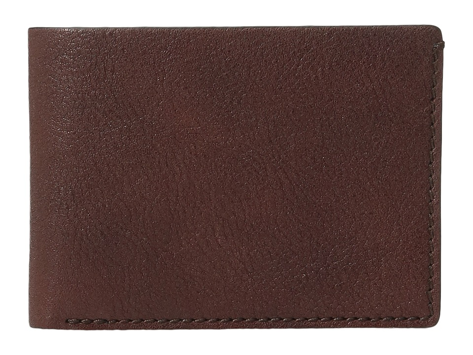 Bosca - Washed Collection - Small Billfold (Brown) Wallet Handbags