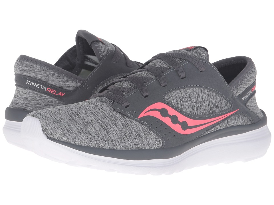 Saucony Kineta Relay (Grey/Heather/Coral) Women