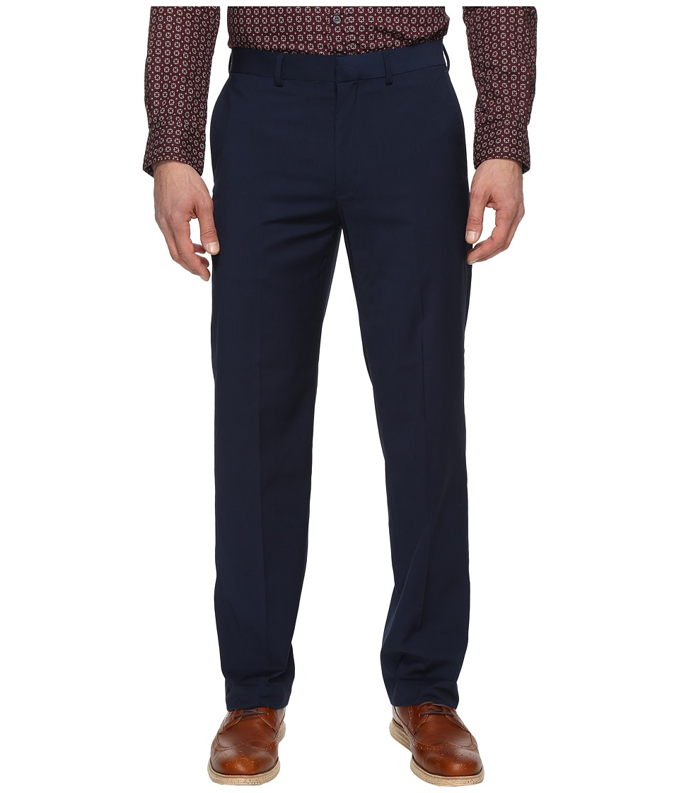 Dockers - Solid with Dual Action Straight Fit Pants (Navy) Men's Casual Pants