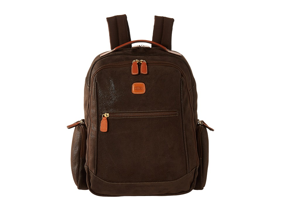 Bric's Milano - Life - Large Executive Backpack (Olive) Backpack Bags