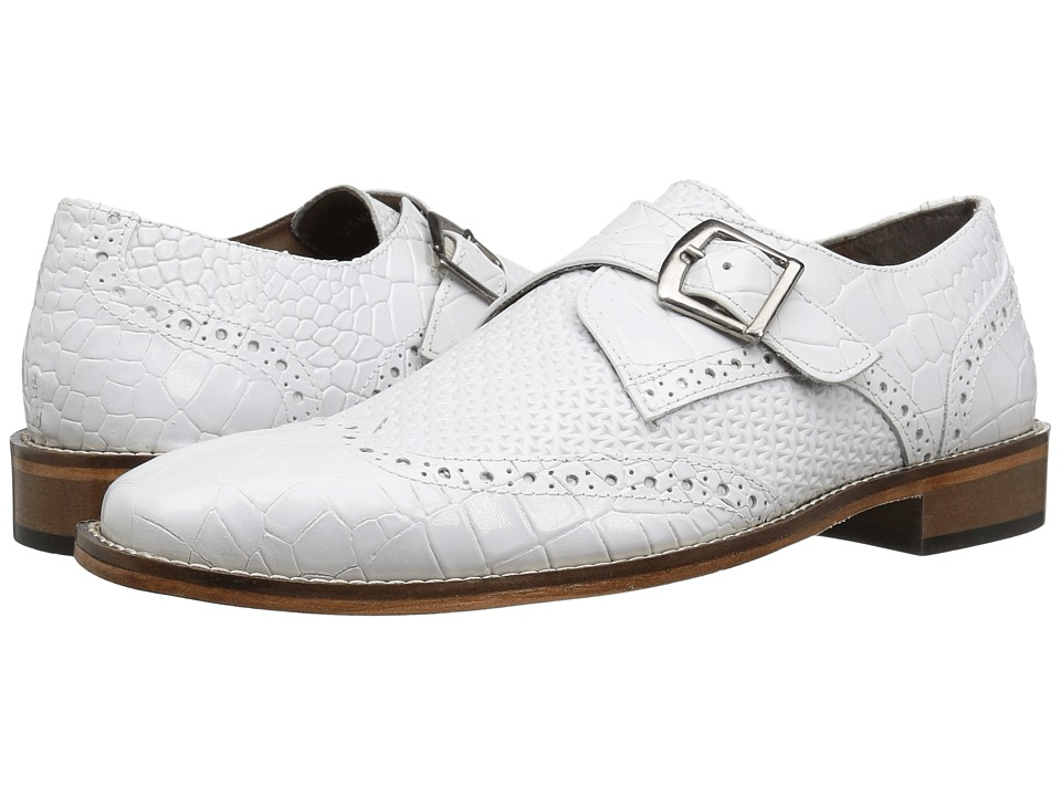 1960s Mens Shoes- Retro, Mod, Vintage Inspired Stacy Adams - Giannino White Mens Shoes $90.00 AT vintagedancer.com