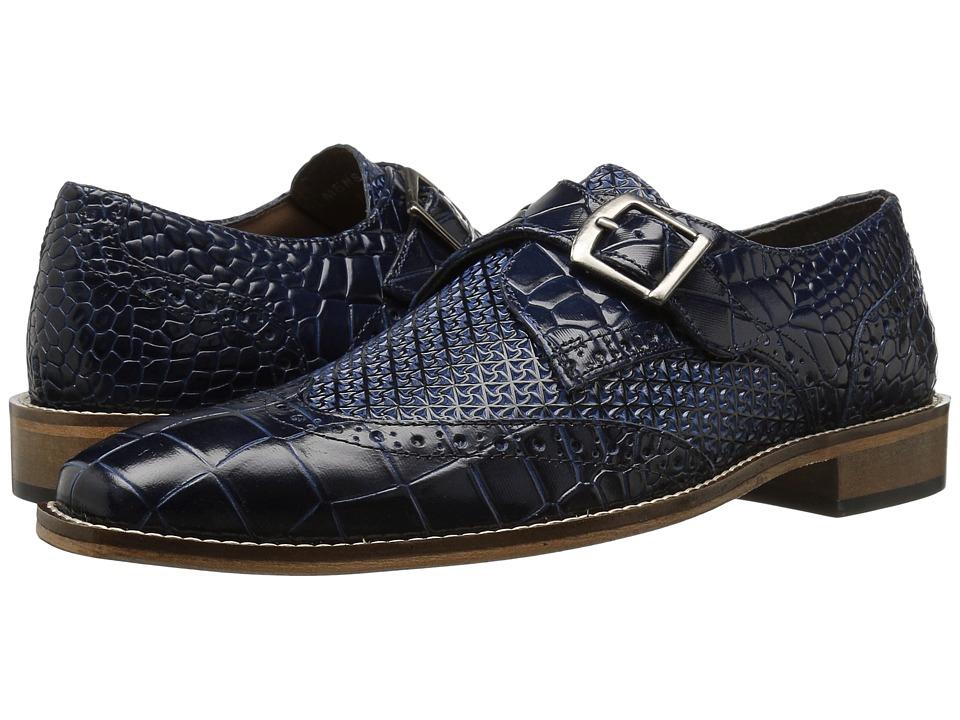 60s Mens Shoes | 70s Mens shoes – Platforms, Boots Stacy Adams - Giannino Blue Mens Shoes $90.00 AT vintagedancer.com