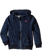 True Religion Kids - Indigo Mineral Wash Hoodie (Toddler/Little Kids)