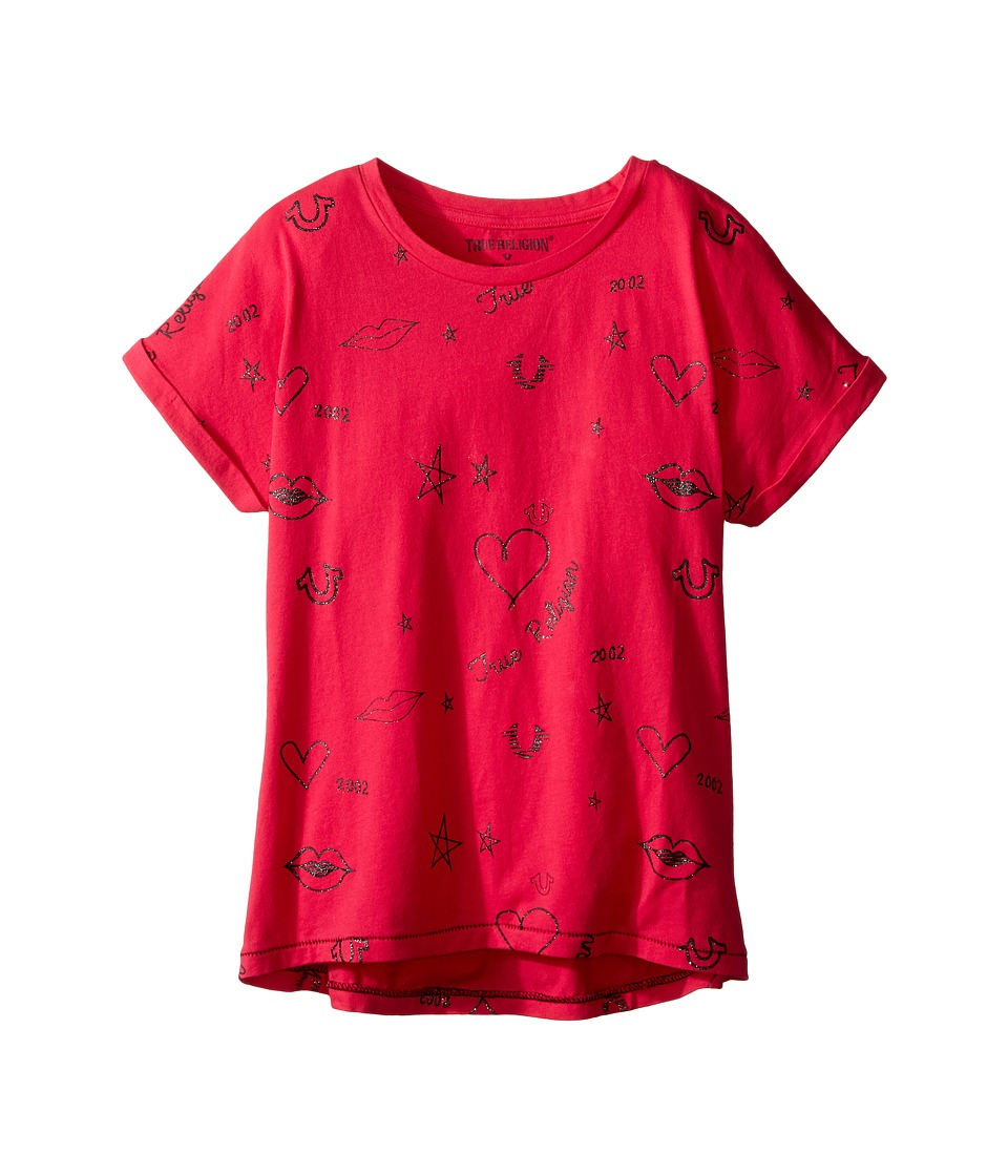True Religion Kids Doodle Dolman T-Shirt (Little Kids/Big Kids) (Fuchsia) Girl