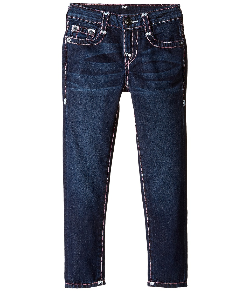 True Religion Kids - Casey White and Pink Combo Super T Jeans in Tear Drop Blue