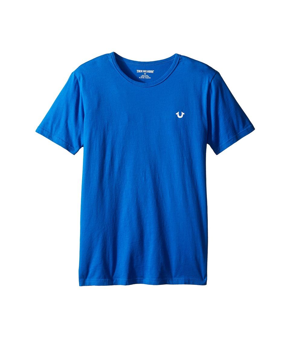 True Religion Kids Branded Logo Tee (Big Kids) (Royal Blue) Boy