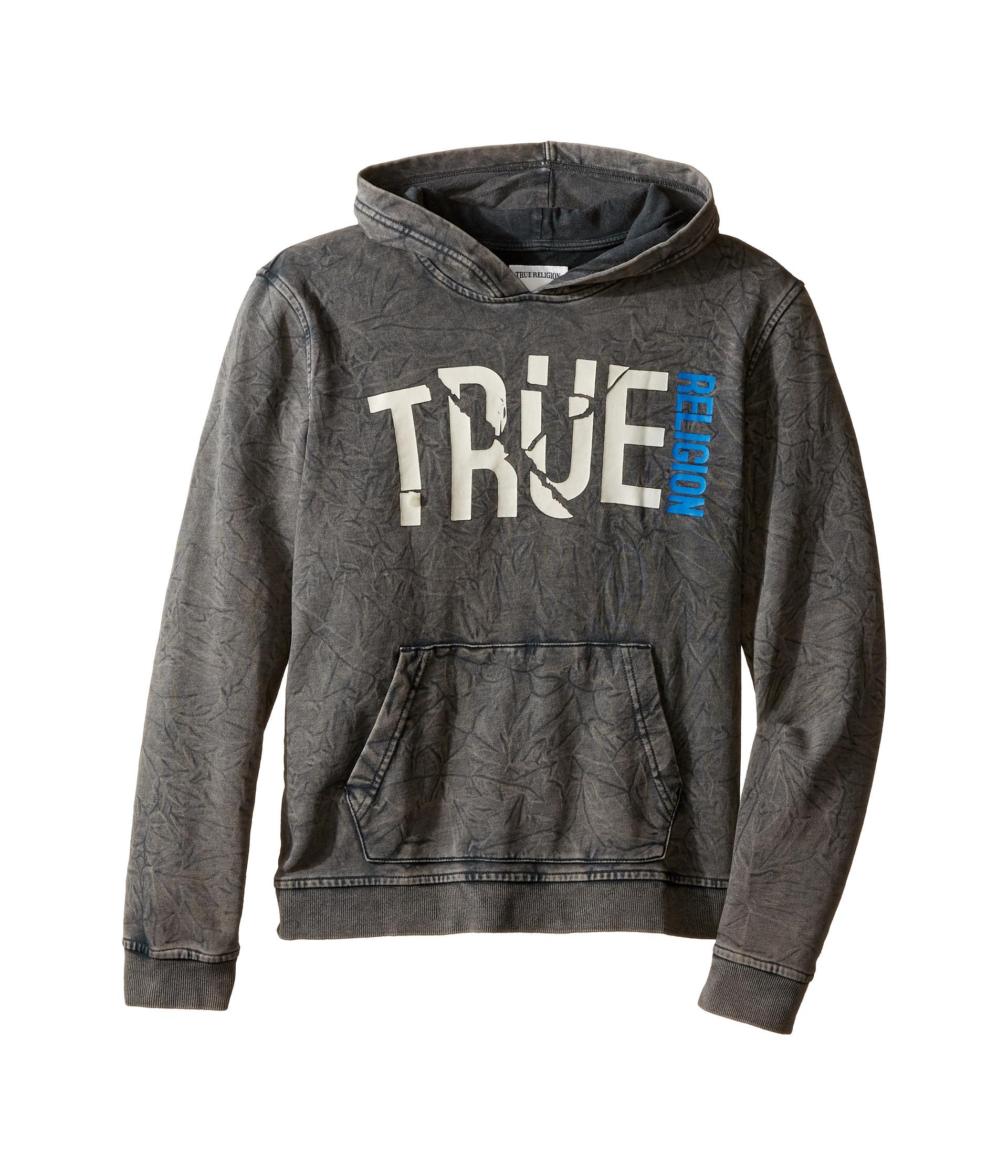 true religion kids shattered hoodie big kids black free shipping both ways. Black Bedroom Furniture Sets. Home Design Ideas