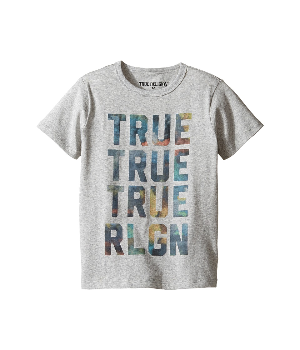 True Religion Kids Cloudy TR Tee (Toddler/Little Kids) (Heather Grey) Boy