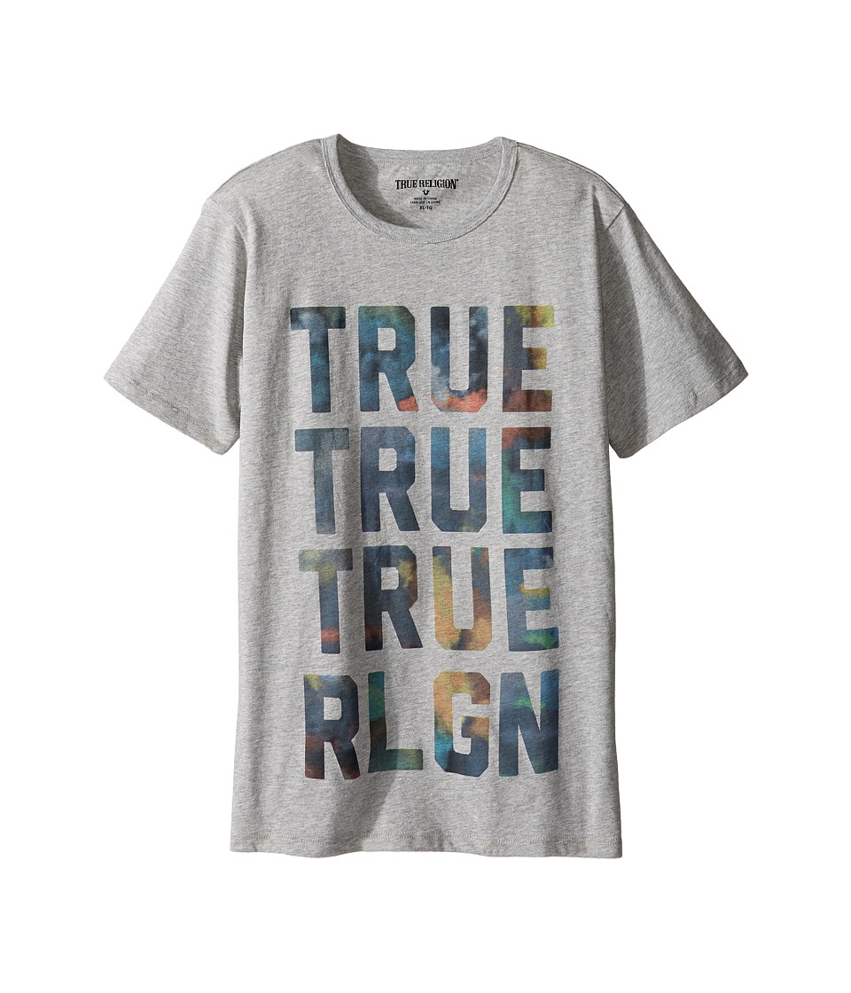 True Religion Kids Cloudy TR Tee (Big Kids) (Heather Grey) Boy