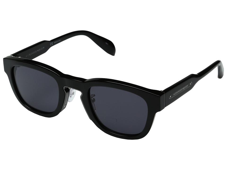 Image of Alexander McQueen - AM0047S (Black/Grey) Fashion Sunglasses