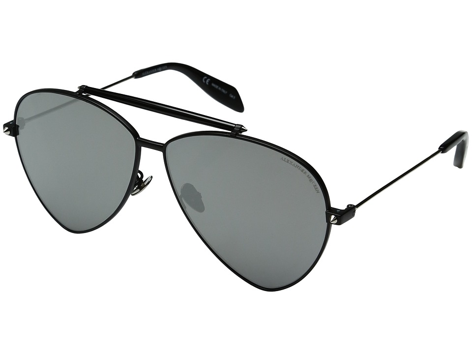 Alexander McQueen - AM0058S (Black/Silver Mirror) Fashion Sunglasses