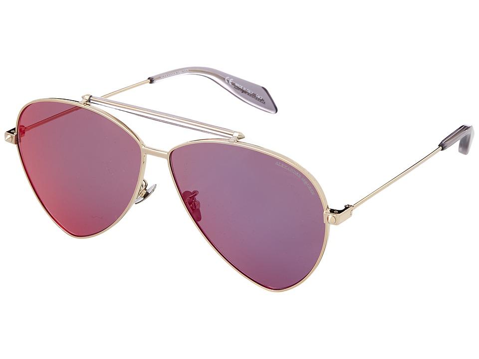 Alexander Mcqueen AM0058S (Grey/Pink Mirror) Fashion Sung...