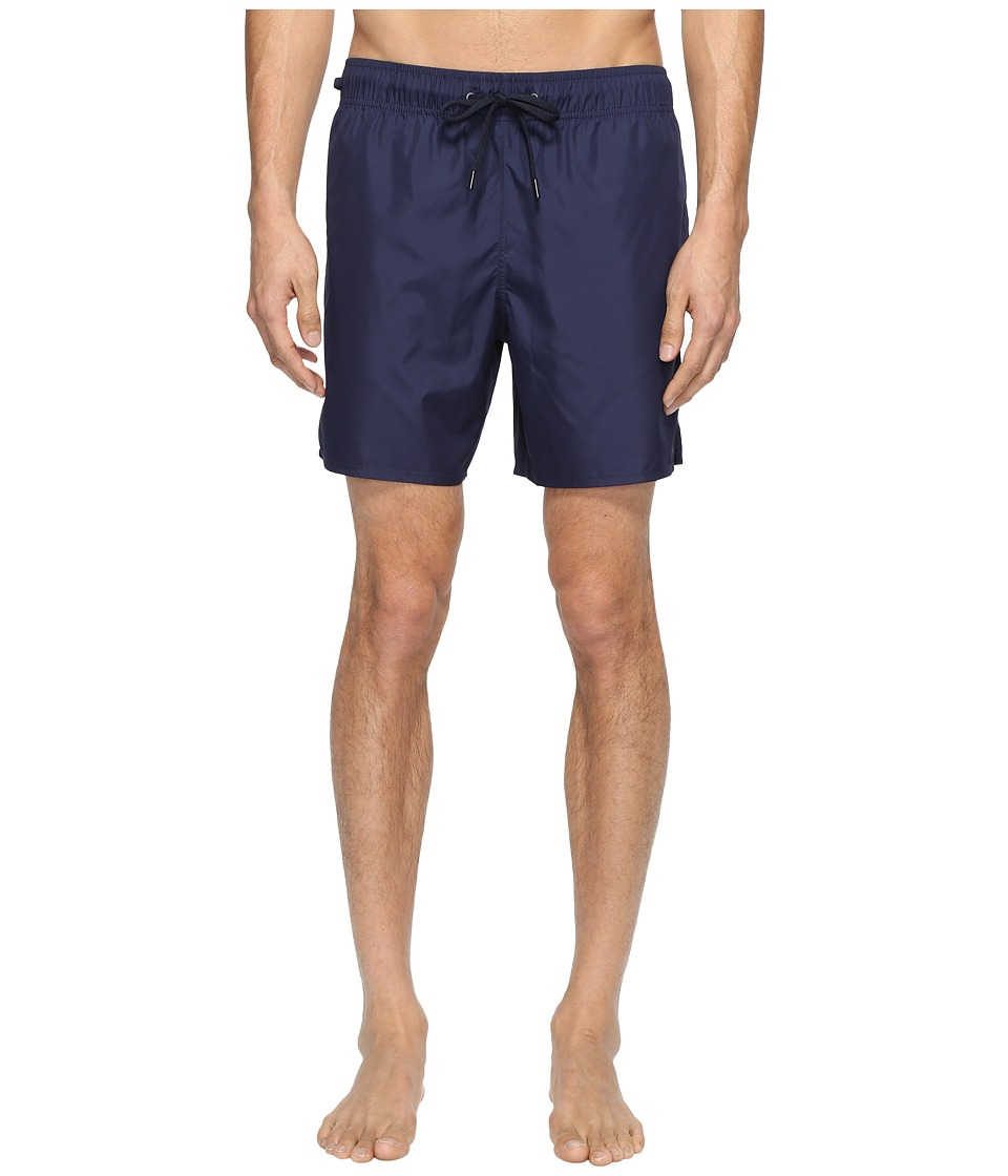 Zegna Basic Swim Trunks (Navy) Men's Swimwear