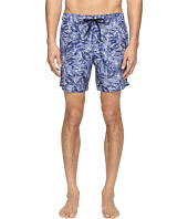 Z Zegna - Tonal Leaf Print Swim Trunks
