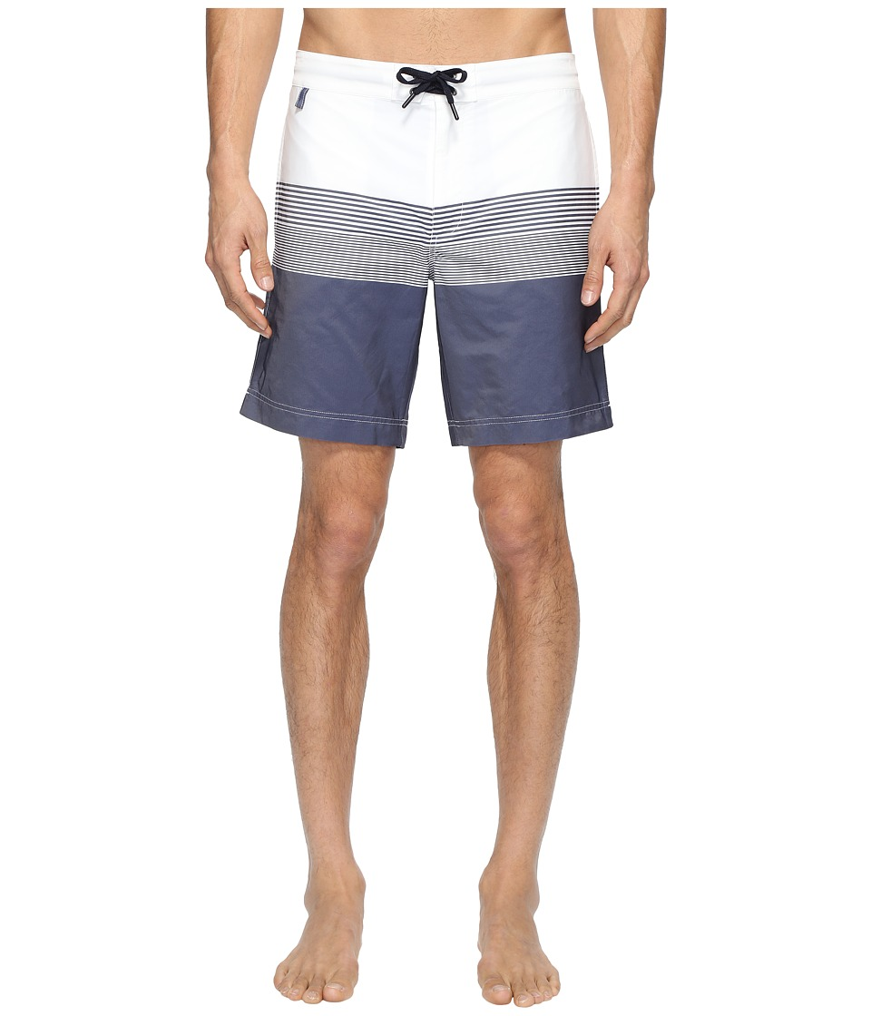 Z Zegna Striped Boardshorts (Blue/White) Men
