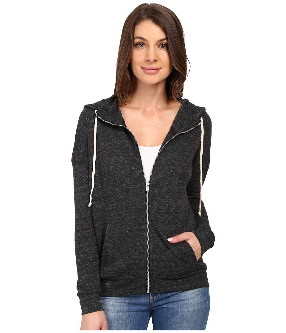 Alternative Eco Jersey Cool Down Zip Hoodie (Eco Black) Women