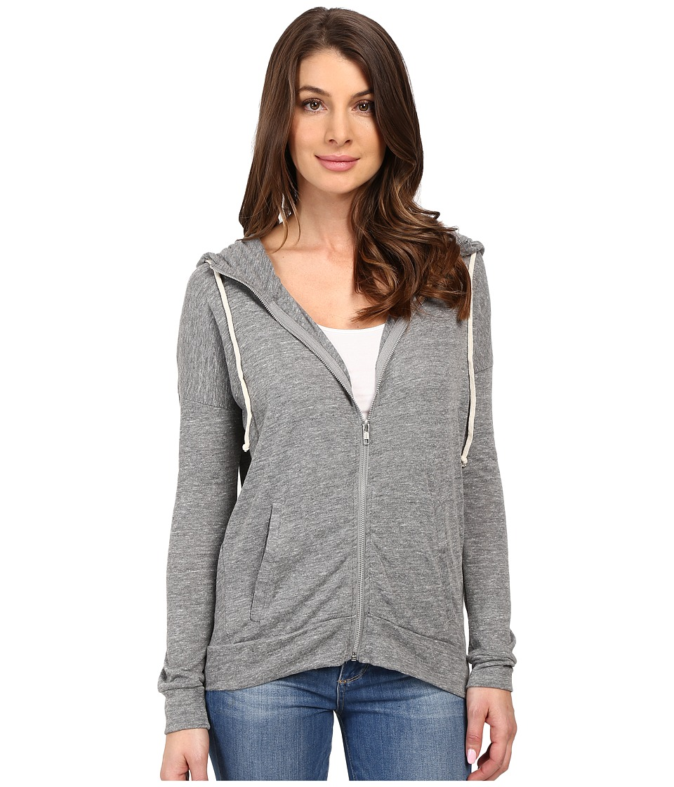 Alternative Eco Jersey Cool Down Zip Hoodie (Eco Grey) Women