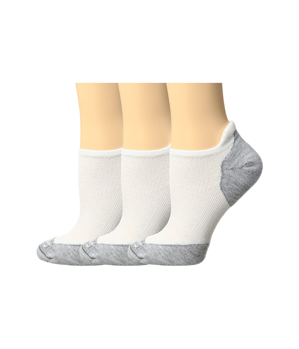 Smartwool - PhD Run Elite Micro 3-Pair Pack (White/Light Gray) Womens Crew Cut Socks Shoes
