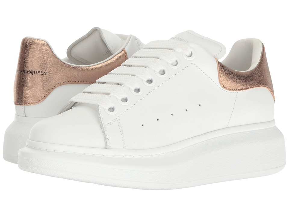 Alexander McQueen Lace-Up Sneaker (Rose Gold) Women