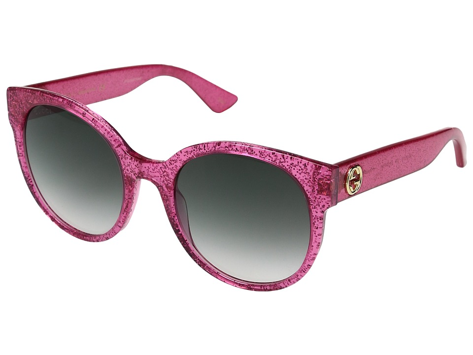 Gucci GG0035S (Pink/Green) Fashion Sunglasses