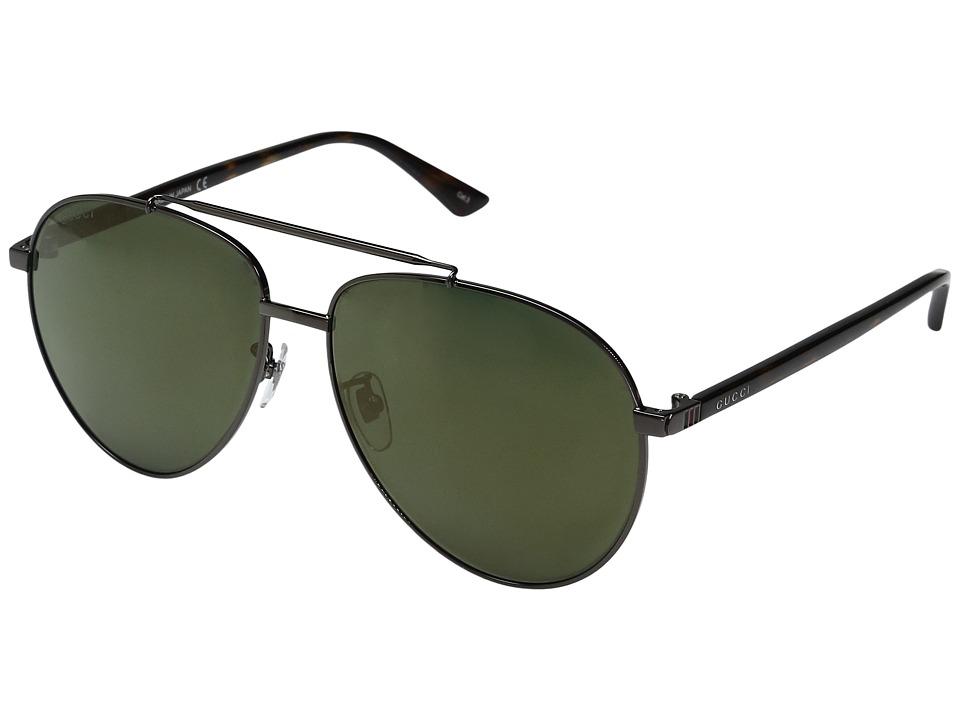 Gucci GG0043SA (Black/Mirror) Fashion Sunglasses