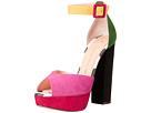 Charlotte Olympia - Eugenie (Multicolour Suede/Printed Calfskin)