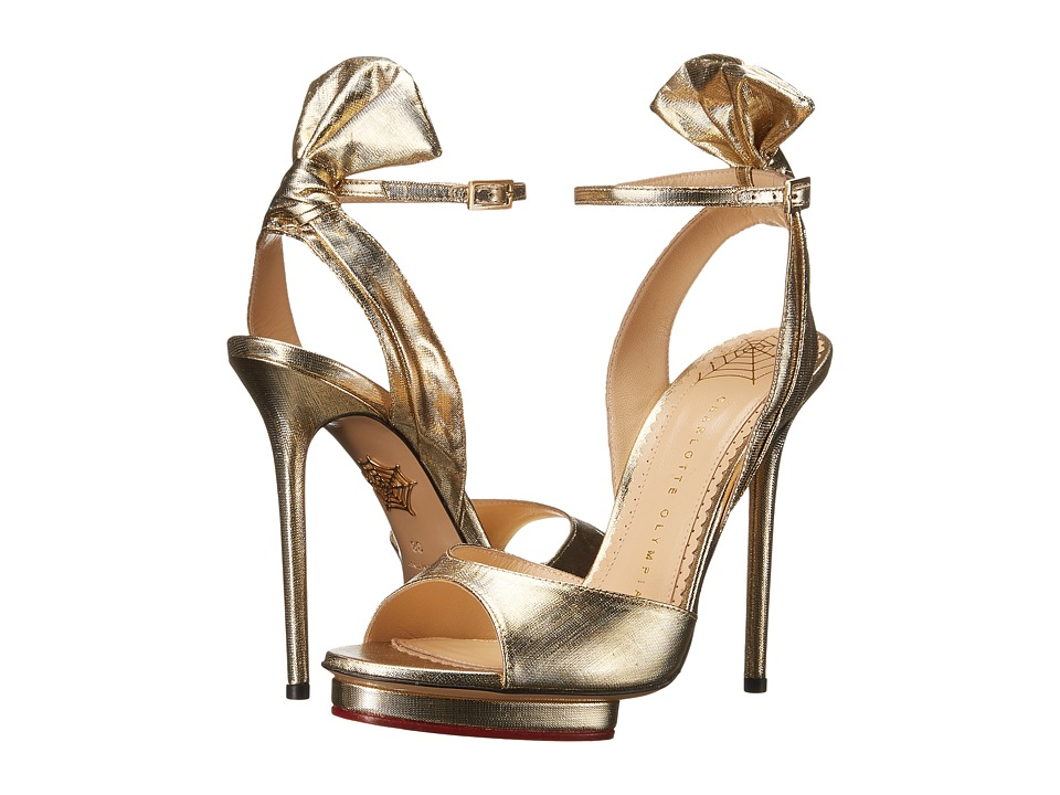 Charlotte Olympia Wallace (Gold Lame) High Heels