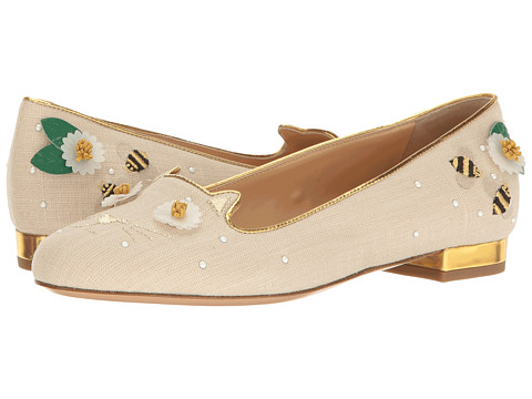 Charlotte Olympia Floral Kitty Flats
