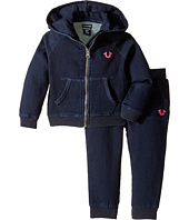 True Religion Kids - Indigo French Terry Hoodie Set (Infant/Toddler)