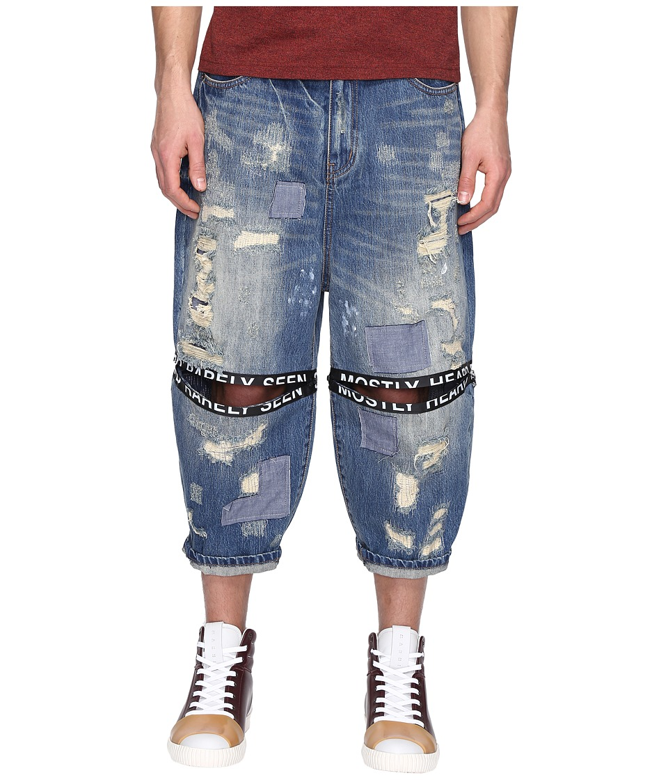 Mostly Heard Rarely Seen - Destroyed Ticker Feed Jeans