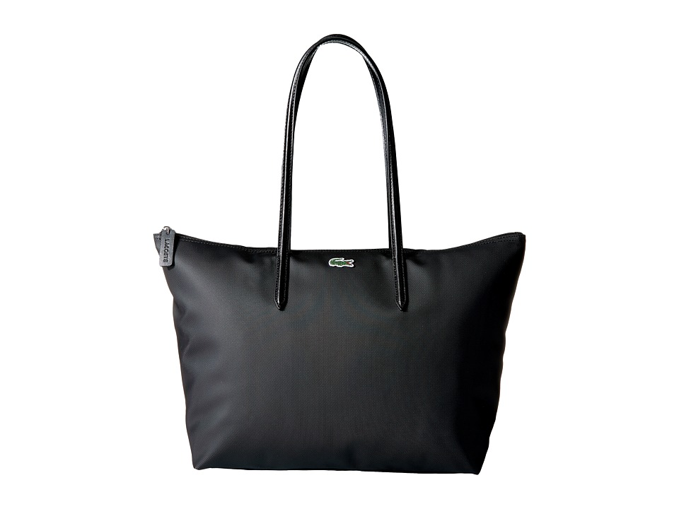 Lacoste - L.12.12 Concept Large Shopping Bag (Black 1) Tote Handbags