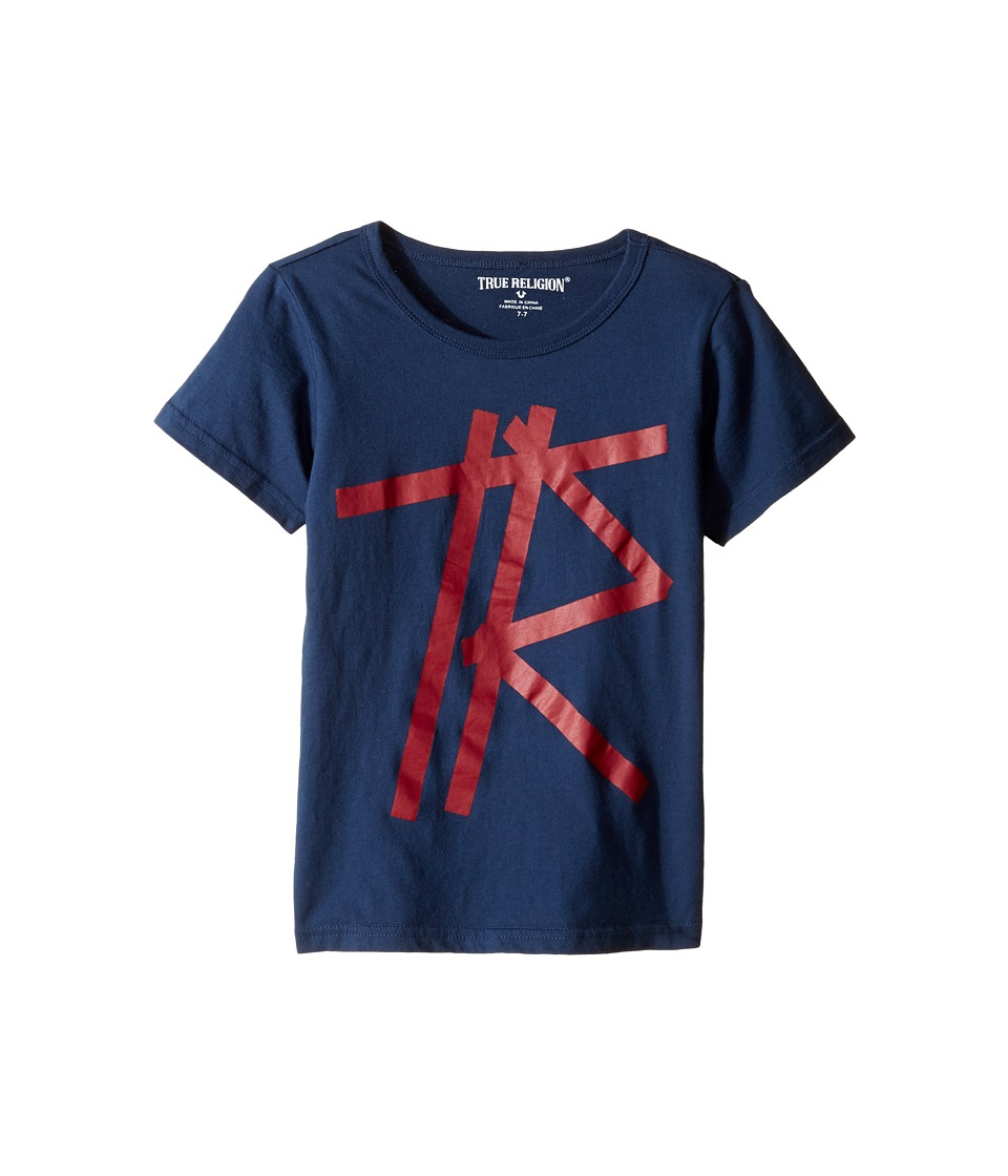 True Religion Kids Tape T-Shirt (Toddler/Little Kids) (Insignia Blue) Boy