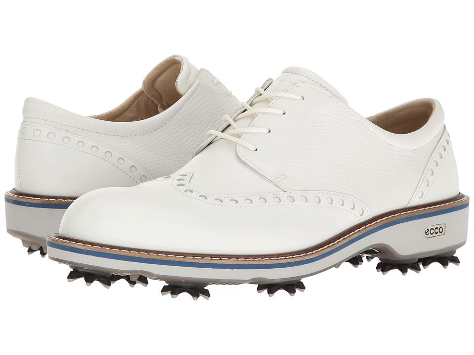 ECCO Golf - Golf Lux (White/White) Mens Golf Shoes