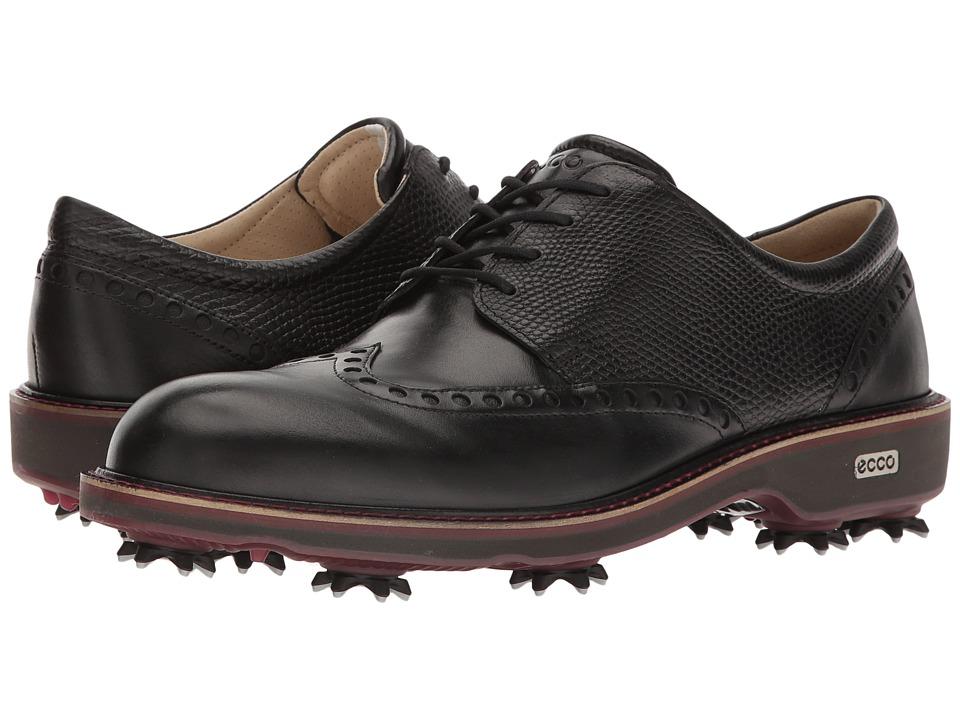 ECCO Golf - Golf Lux (Black/Black) Mens Golf Shoes