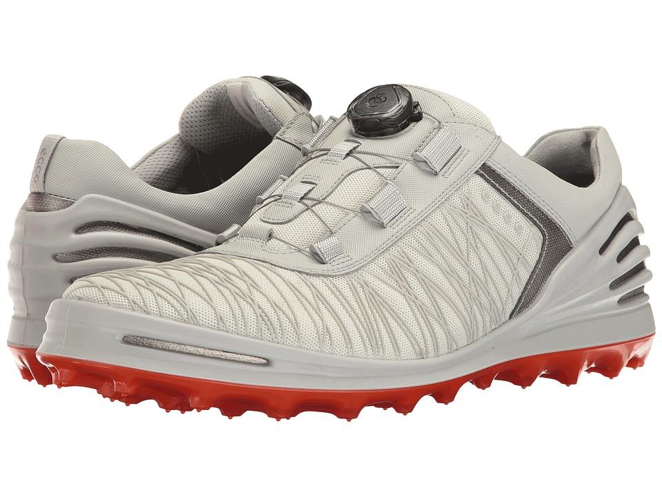 ECCO Golf - Cage Pro Boa (Shadow White) Mens Golf Shoes
