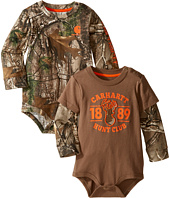 Carhartt Kids - Long Sleeved Camo Body Shirt 2-Pack (Infant)